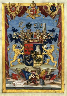 Erb grófskeho rodu Hadik von Futak.